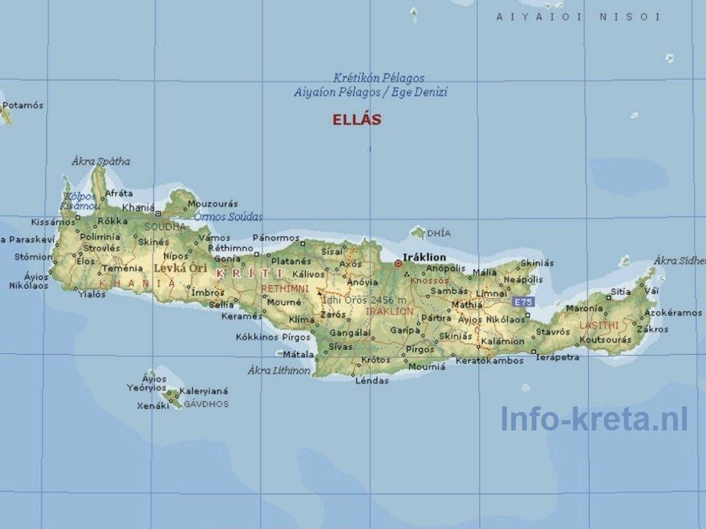 kaart aegeische zee